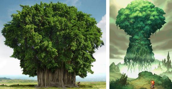 Figuier de Banians et arbre Mana