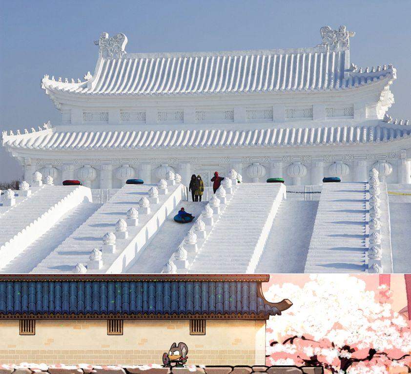 Harbin & temple chinois