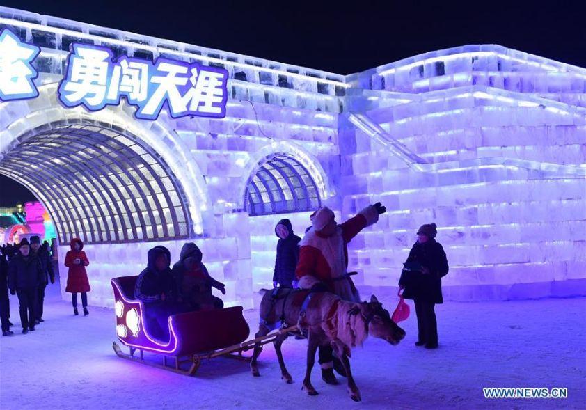 Harbin balade en traîneau