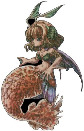 Legend of Mana Mermaid Flameshe Art