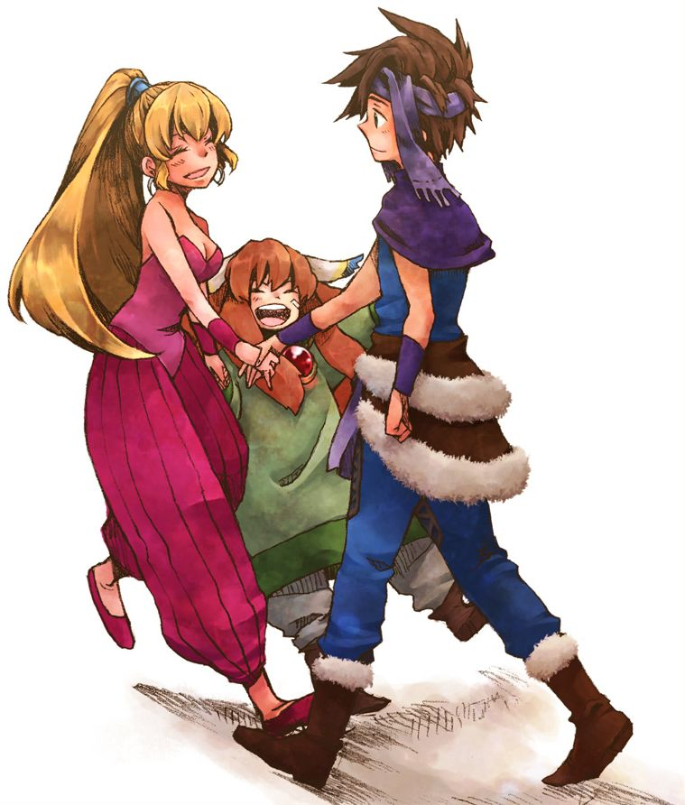 Secret of Mana art famille