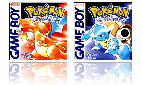 jaquettes pokemon rouge et pokemon bleu