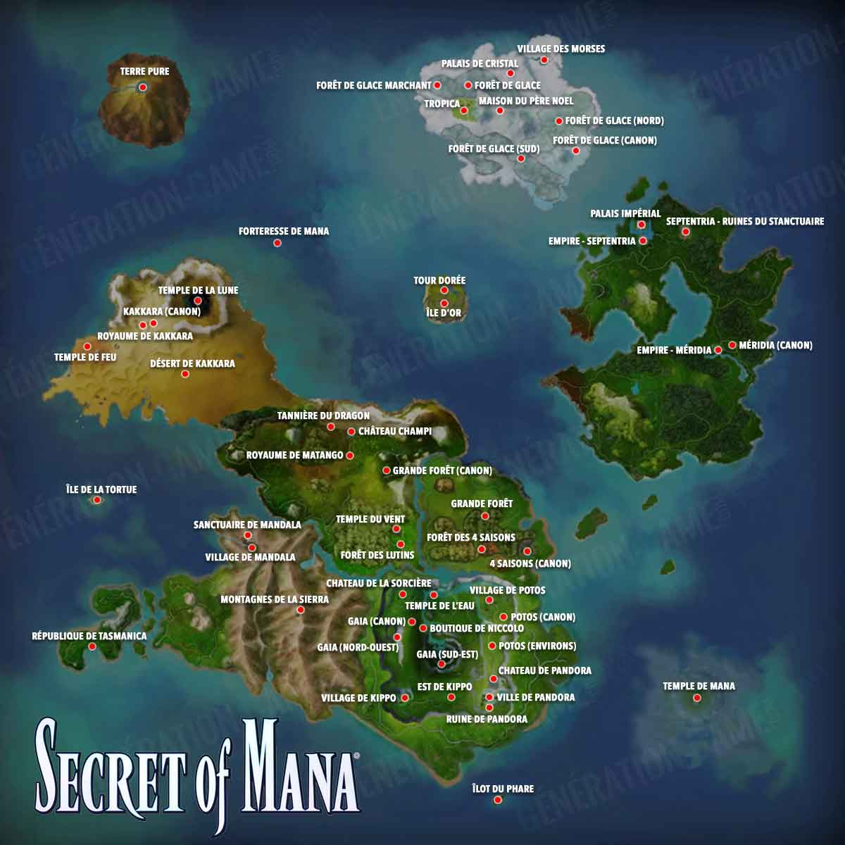 Carte Secret of Mana remake