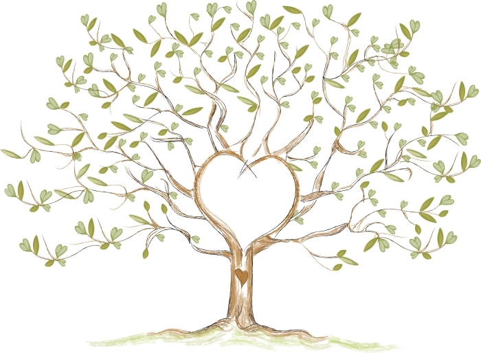 dessin arbre en forme de coeurs feuilles vertes coeurs amour square palace. Black Bedroom Furniture Sets. Home Design Ideas