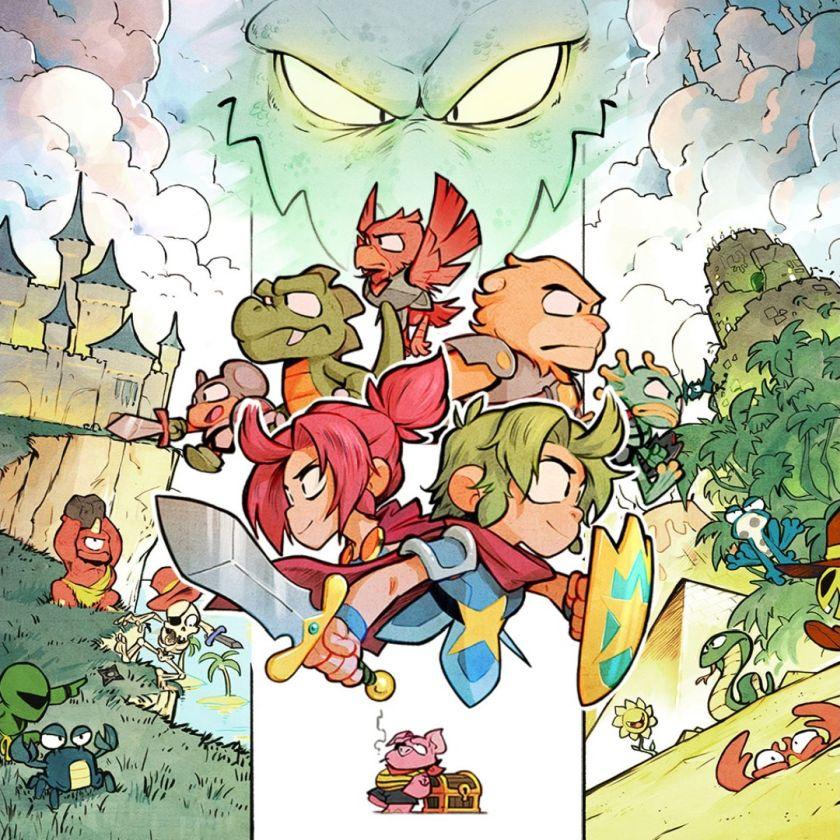 Dragon's Trap remake illustration