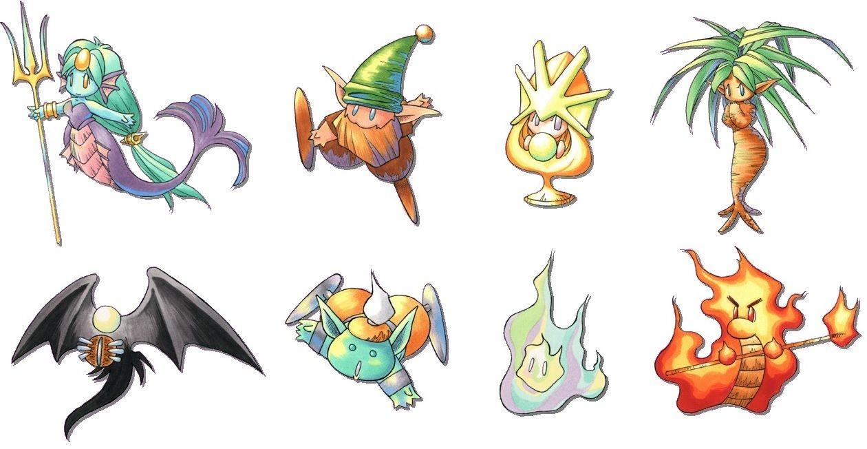 Legend of Mana 8 Esprits