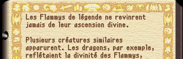 Legend of Mana encyclopédie origine des Flammy