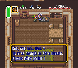 Legend of Zelda A Link to the Past poudre magique poule du village