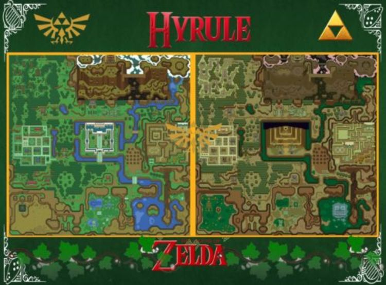 Legend of Zelda Snes Map Art