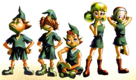 Legend of Zelda Ocarina of Time illustration Kokiri