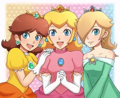 Mario : princesses Daisy, Peach et Rosalina