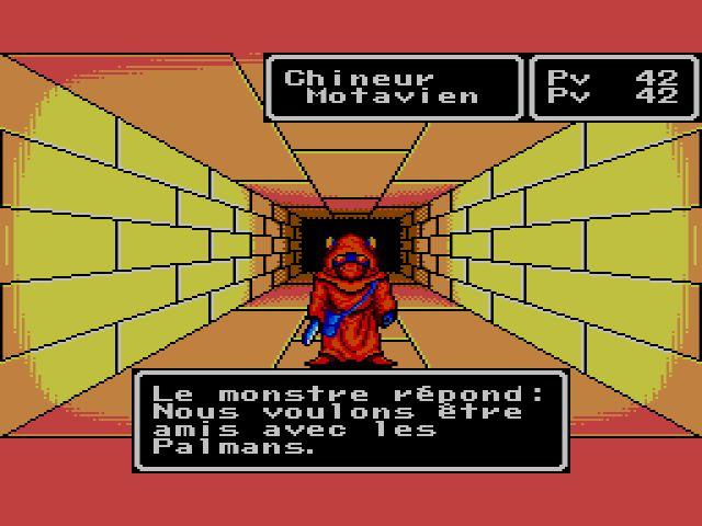 Phantasy Star Ecran du jeu Master System