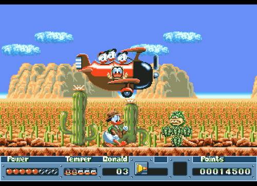 Quackshot écran du jeu