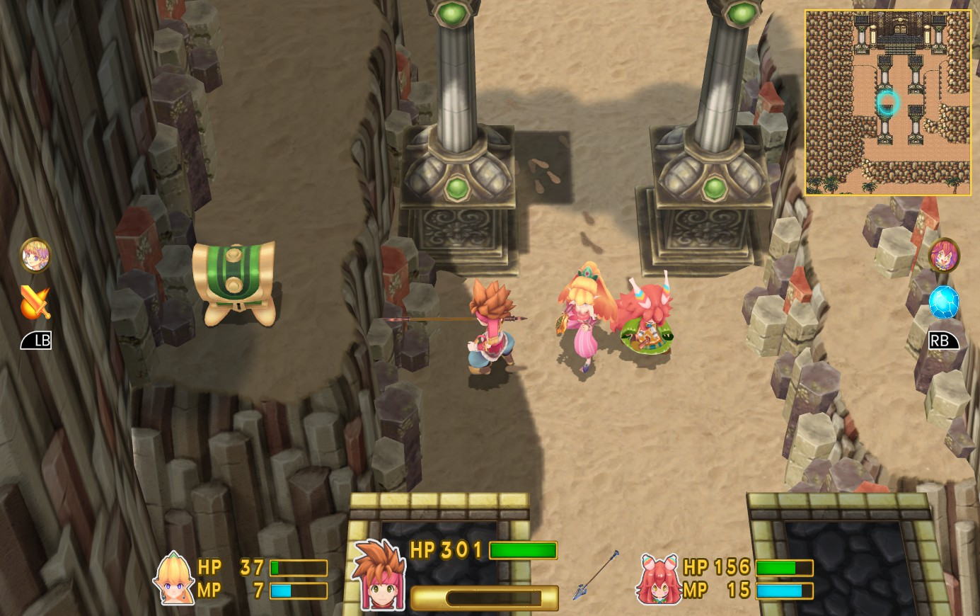 Secret of Mana coffre inaccessible