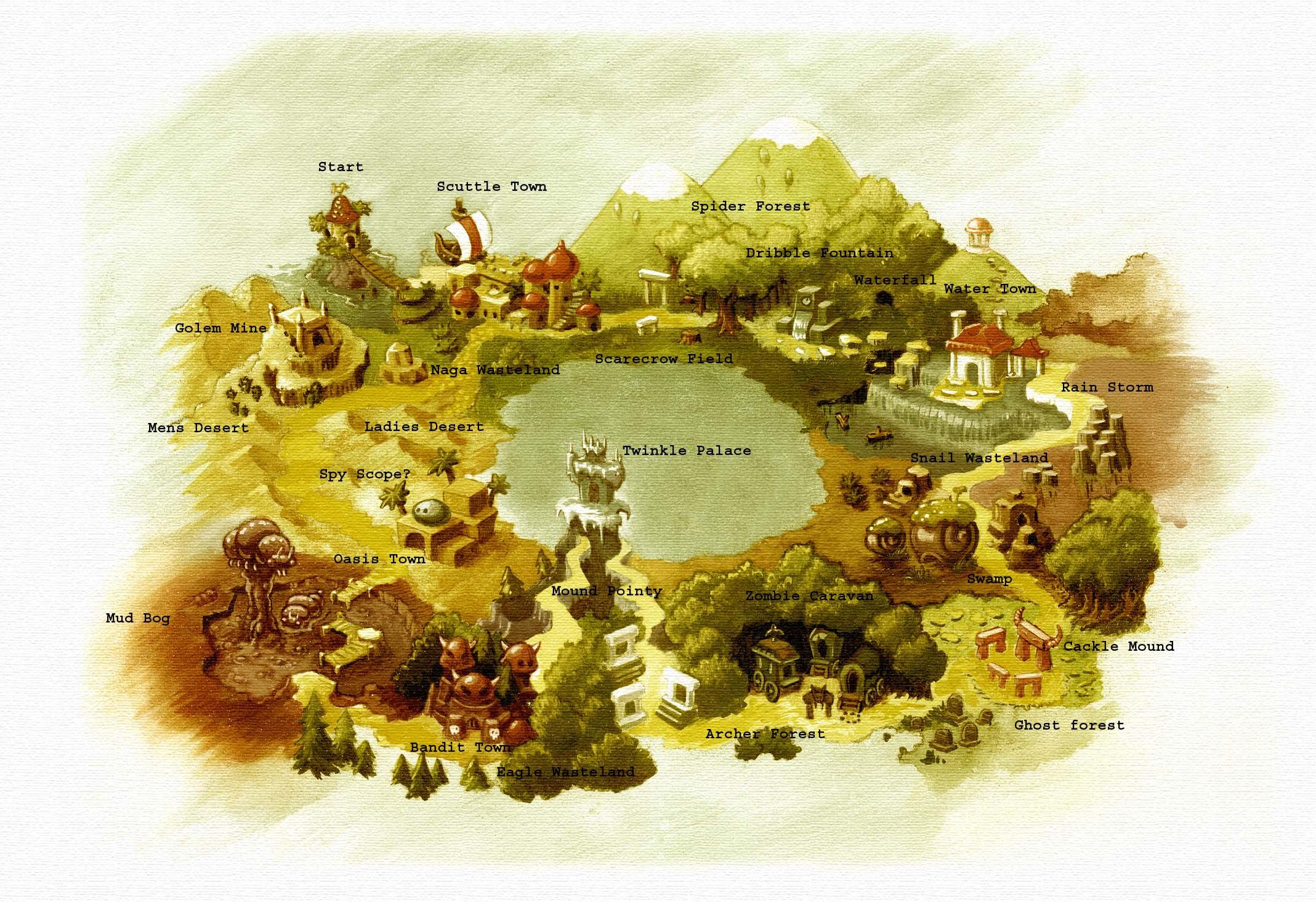 Shantae Overworld Map Sequin Land