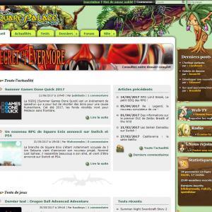 Page d'accueil de la version 5 du site