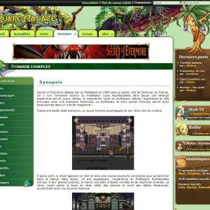 Page typique d'un dossier de la version 5 du site