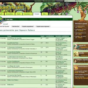 Page de forum de la version 5 du site