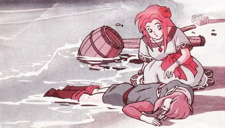 The Legend of Zelda Link's Awakening illustration manuel N&B
