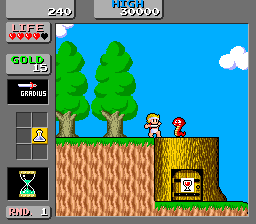 Wonder Boy in Monster World Ecran du jeu